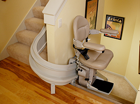 san jose ca curved stair chair lift